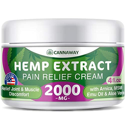 Hemp Cream for Pain Relief - 2000 Mg - Hemp Oil Cream for